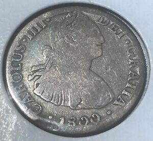 Mexico 1800  Charles IIII 2 Reales , SCARCE
