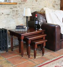 La Roque Solid Mahogany Furniture Nest of Coffee Tables IMR08B