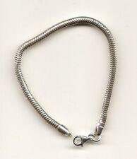 Sterling Silver 3mm Children Bracelet for Charm Beads