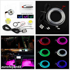 6m 12v Waterproof Multi-color LED Car Truck Neon El Light Strip Wire App Control