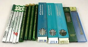 LARGE LOT VINTAGE DRAFTING, DRAWING PENCIL LEADS, STADTLER, CASTELL, TURQUOISE E