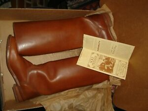 NOS NORDSTROM W/ Tag Vintage Frye Women Women's Leather Riding Boots 10 B W