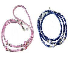 Reading Eye glasses spectacle holder lanyard - Porcelain pearl pink blue