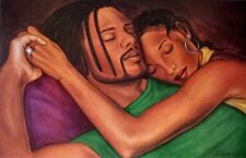 "African American Art ""Cherishing the Moment""  Romantic Print by Fred Mathews"