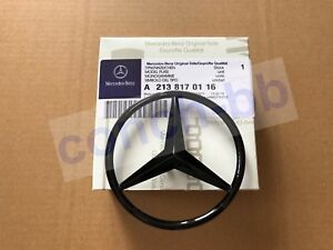 Gloss Black Star badge for Merc E Class W213 Rear Boot -A2138170116 -Saloon Only