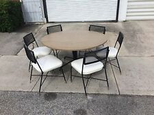 Mid century modern flip top dining table retro