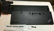 Lenovo ThinkPad Ultra Dock 40A2 USB 3.0 T440 X240 T540 L460  T470 T570 w/ Key