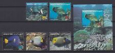 YEMEN REPUBLIC (Combined) - 1996 Fish set + SS - Scott 706-10 + 711