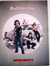 BAD COMPANY (Paul Rodgers) 1979 British TOUR PROGRAM BOOK