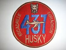Royal Canadian Air Force Patch 437th TRANSPORT Squadron ESCADRILLE HUSKY Patch