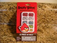ANGRY BIRDS 10 Piece Press On Nails Set Dress Up  NEW