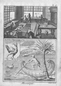1783 - DIDEROT ENCYCLOPEDIE - Mosaique (Mosaics)