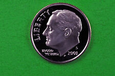 2001-S Deep Cameo Roosevelt Silver Dime Us Gem Proof Coin (90% Silver)