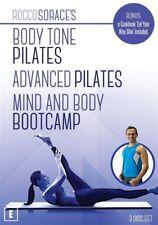 A Rocco Sorace - Body Tone Pilatesdvanced Pilates & Mind And Body Bootcamp (DVD, 2017, 3-Disc Set)