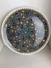 "Hand Painted Turkish Plate 10.5"" Star"