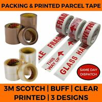 PARCEL TAPE HIGH QUALITY SCOTCH TAPES CLEAR - BUFF / PRINTED FRAGILE PAPER