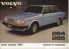 Volvo 264 265 1981 original Owner's Manual (Handbook) in English