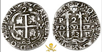 "BOLIVIA 1683 ""ROYAL"" 2 REALES NGC ""Likely 1715 FLEET"" PIRATE SHIPWRECK TREASURE"