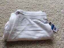 SJB Active White M Medium Sweat Pants Drawstring Waist New St John's Bay
