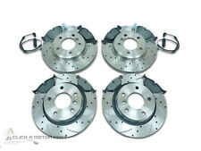BMW E90 320i FRONT & REAR DRILLED GROOVED BRAKE DISCS MINTEX PADS (CHECK SIZE)
