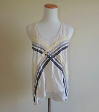 Women' Gentle Fawn Striped Tank Top Shirt Size Small