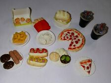 Dollhouse Miniature Snack Food Set Pizza Hot Dogs Chicken Nuggets