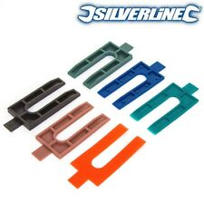 500 PLASTIC SPACERS 1mm-6mm Dry Lining/uPVC Window Frame Wedges/Shims Thin-Thick