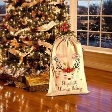 Personalised Name Unicorn Santa Sack Christmas 2018 Reindeer Xmas Bag Stocking