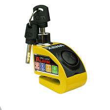 Xena XZZ6-Y Motorcycle Quality Mini Disc Lock Alarm Yellow 6mm Pin - New