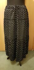 "Long Plus Size Casual Skirt Yessica New XL waist 44"" Black and white motifs"