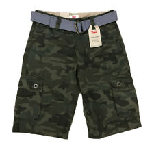 Boys Levi's Camo Green Cargo Shorts With Belt // NEW W. TAG //  MSRP: $42.00