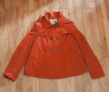 NEW Look Di Rame Bronzo Arancione Coat/Jacket-Taglia 10