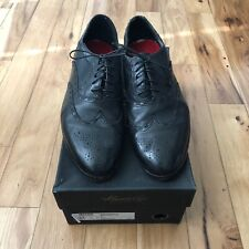 Men's KENNETH COLE BLACK WING TIP LACE UP DRESS SHOES SIZE 13M