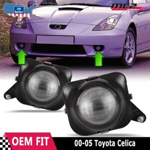 For Toyota Celica 00-05 Factory Bumper Replacement Fit Fog Lights Clear Lens