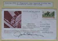 s1474) Raumfahrt Second Space Walk Skylab 3 Originalunterschrift Jack Lousma