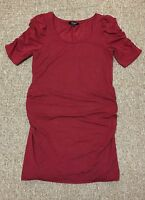 New Look Maternity Red Ruffle Sleeve Dress Size 12 RRP £20.00...Only £6.99!