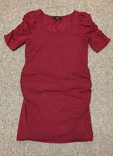 New Look Maternity Red Ruffle Sleeve Dress Size 12 RRP £20.00...Only £3.99!