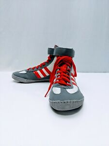 Adidas Combat Speed 2.5 Youth Wrestling Shoes - White/Red/Gray