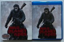 WAR FOR THE PLANET OF THE APES BLU RAY DVD 2 DISC SET + SLIPCOVER SLEEVE BUY IT