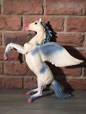 2006 Toys-R-Us rearing pegasus glitter / blue wings mane tail socks & pink nose