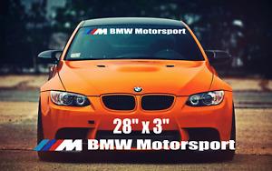 BMW Motorsport Windshield sun strip  E46 E36 E60 E63 X1 M1 M2 M3 M4 UK SELLER