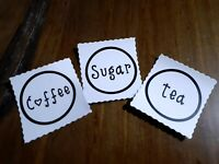 Household Labels, Kitchen, Pantry, Vinyl Personalised, pack of 3