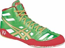 Asics JB ELITE Mens WRESTLING Shoes Size 12 NEW GREEN GOLD WHITE RED