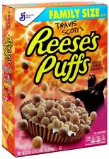 Travis Scott Reeses Puffs Cereal Special Edition Box Family Size New Retro