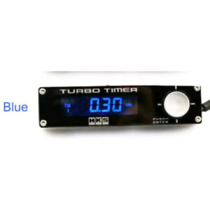 HKS Style Black Car Turbo Timer Blue LED Type 0 EVO STI WRX RX8 G35 Universal