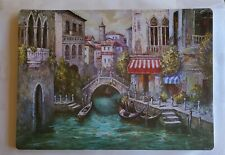 "VENICE AFTERNOON Plastic - Foam Placemats 18""x13"" in  set of 4"