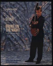 1985 STING - BRING ON THE NIGHT Movie Release Vintage Advertisement - THE POLICE