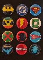 "DC Comics Characters - 1"" Pinback Buttons (>FREE Shipping<)"