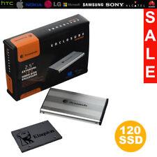"""External 2.5"""" Hard Drive Portable 120GB SSD + Dynamode USB Alumininum Enclosure"""