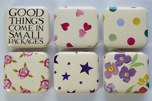 Emma Bridgewater - Square Hinged Trinket/Treat Tin - 6 Designs Available